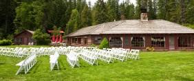 wedding ceremony at Elkins Resort