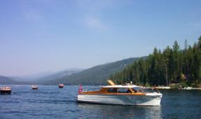 Boats near Elkins Resort on Priest Lake