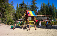 Playground at Elkins Resort on Priest Lake