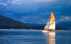 Sailing on Priest Lake near Elkins Resort