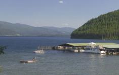 Docks at Elkins Resort of Priest Lake