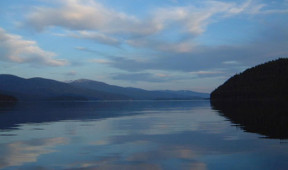Reflection of the sky on Priest Lake