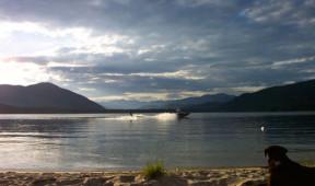 Waterskiing at Elkins Resort on Priest Lake