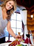 Waitress at Elkins Resort