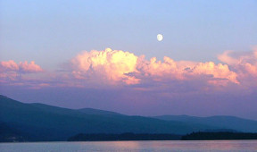Moon Over Priest Lake
