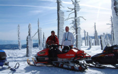 Snowmobiling at Elkins Resort