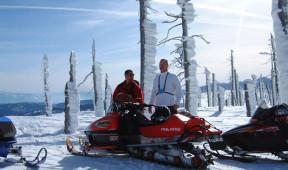 Snowmobiling at Elkins Resort