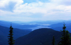Priest Lake from surrounding mountains