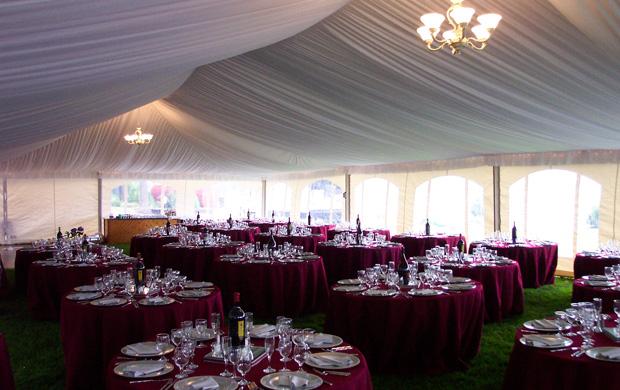 Elegant tent set up for a wedding reception at Elkins Resort | Weddings Gallery & Elegant tent set up for a wedding reception at Elkins Resort