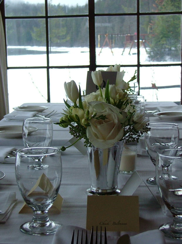 Simple Table Setting For A Wedding Reception At Elkins Resort