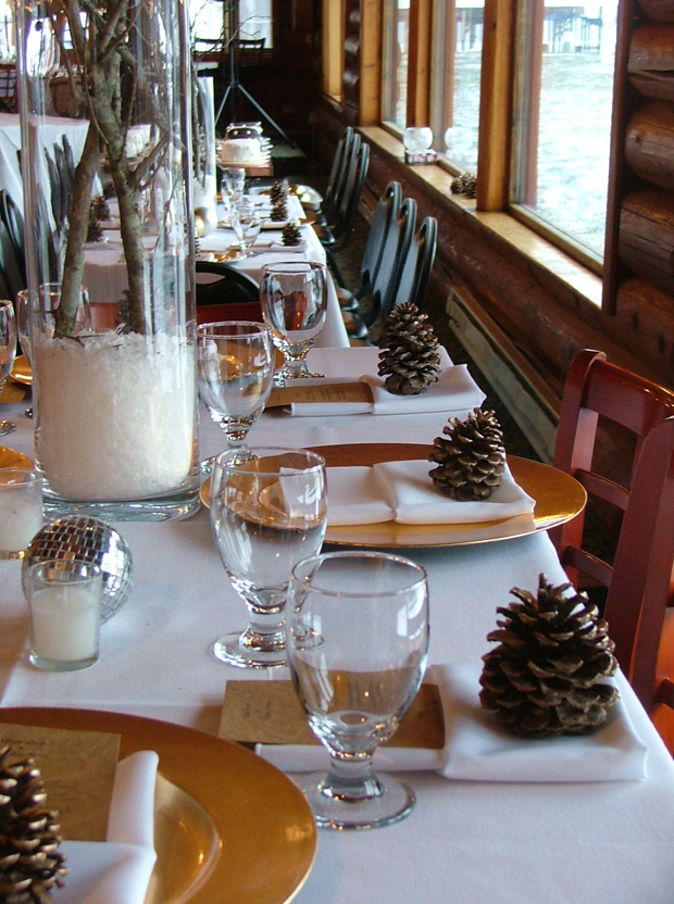Winter Wedding Table Setting For A Reception At Elkins Resort