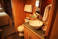 Cabin Bathroom at Elkins Resort