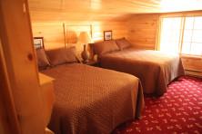 Cabin Bedroom at Elkins Resort