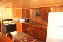 Cabin kitchen at Elkins Resort