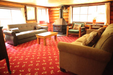 Living Room in Cabin 4 at Elkins Resort