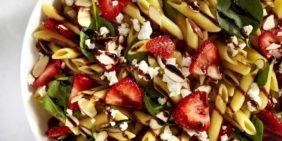Strawberry pasta salad