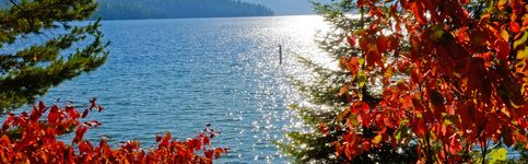 image of Priest Lake in the fall