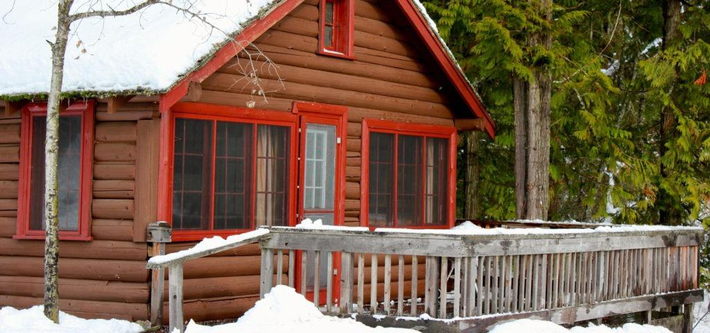 elkins resort cabins in winter