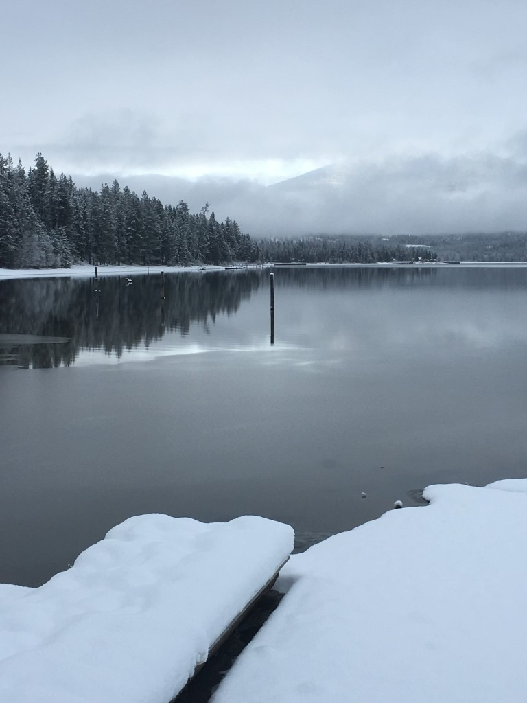 Winter at Priest Lake, photo by Elkins Resort