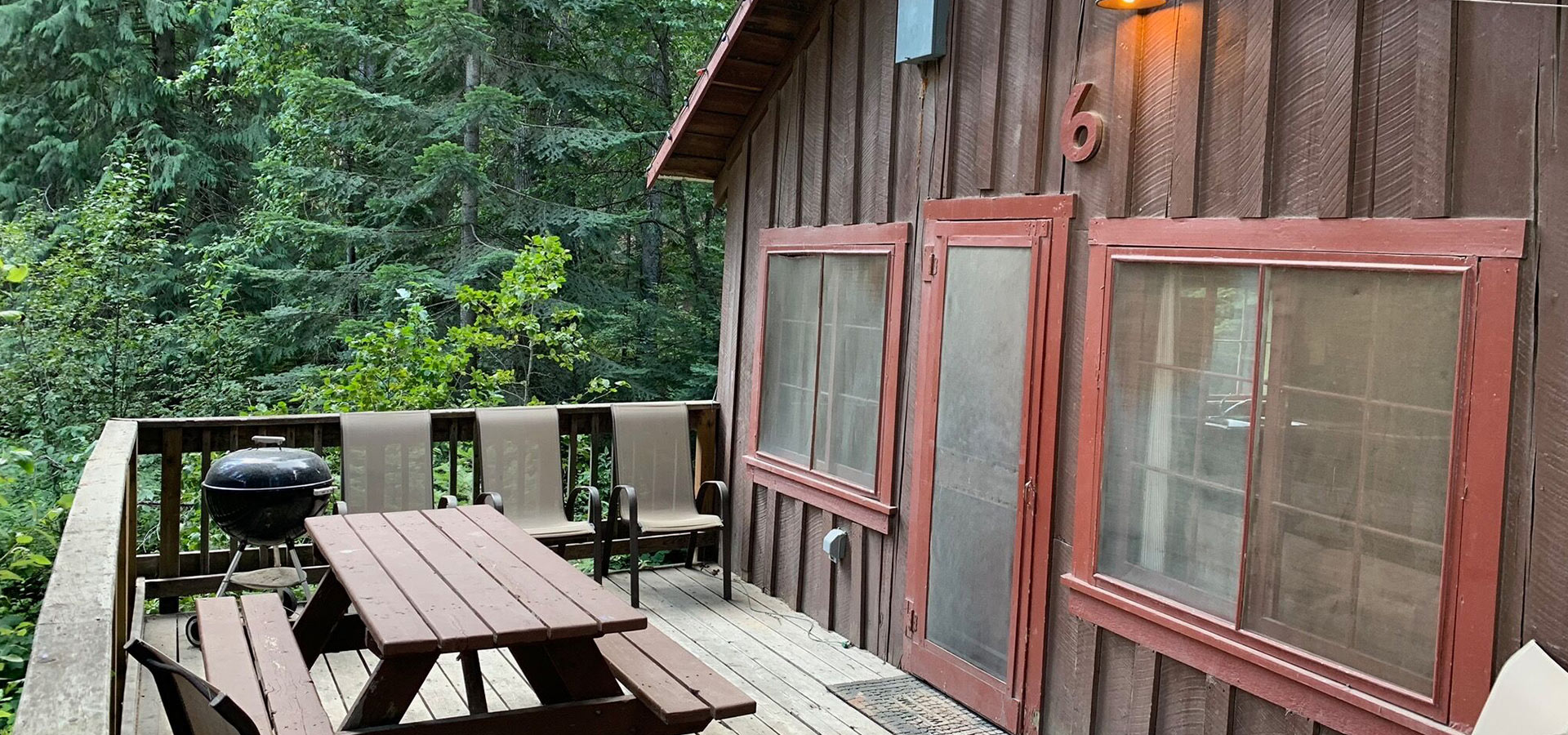 Exterior of cabin 6