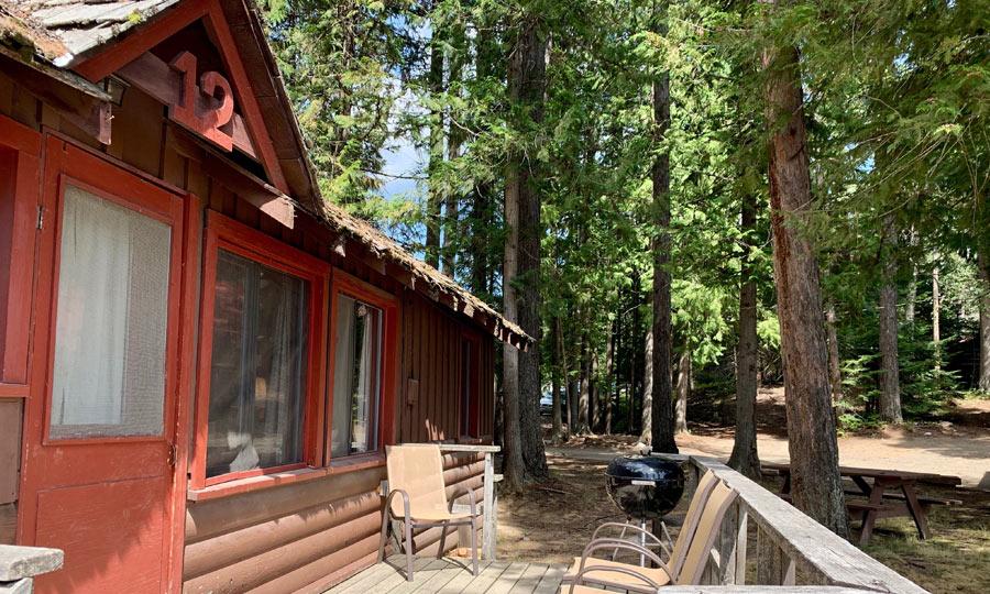 cabin at elkins resort at priest lake