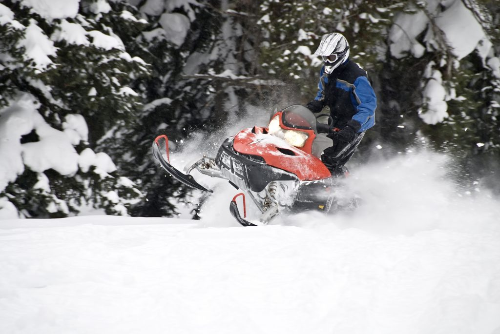 snowmobiling at priest lake
